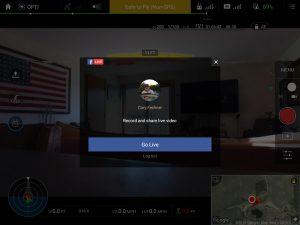 DJU Go Phantom 4 Facebook Live on Android